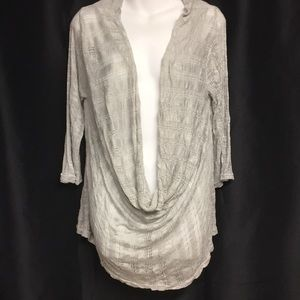 Beautiful light gray cowl neck plus size top